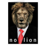 No Lion Greeting Card