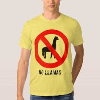 No Llamas T Shirt