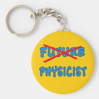 No Longer Future Physicist Grad Gift Basic Round Button Key Ring