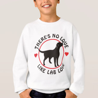No Love Like Lab Love-Black Sweatshirt