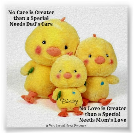 No Love/No Care is Great Special Needs Poster