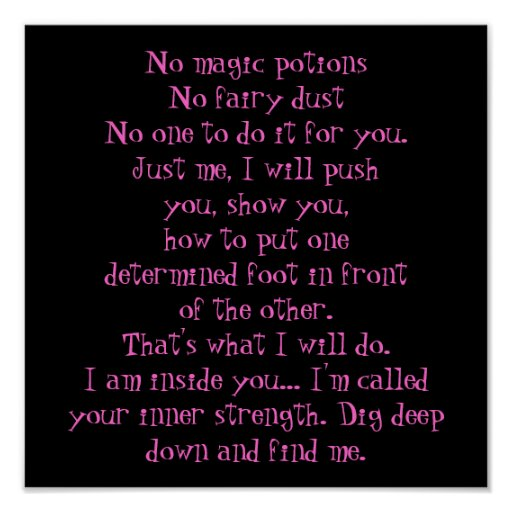 No magic potions poster