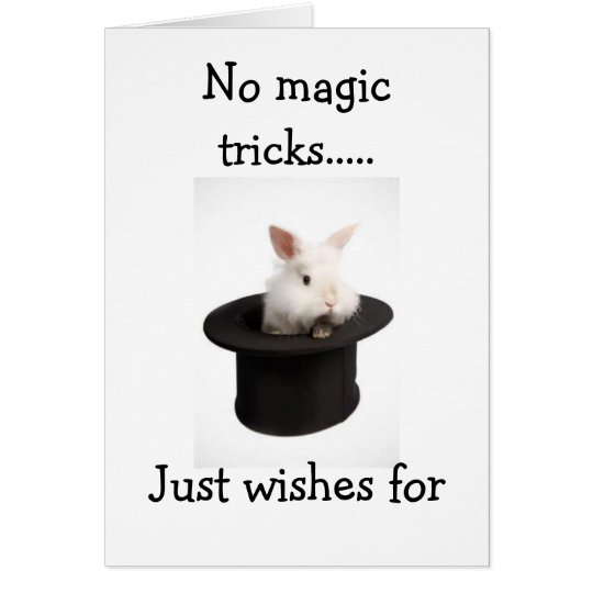 NO MAGIC TRICKS=JUST COOL16th BIRTHDAY WISHES Card