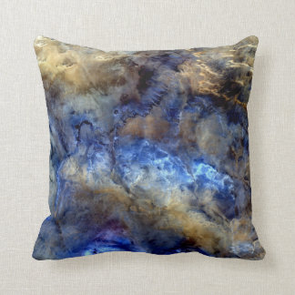 No Man's Land Satellite Image Pillow