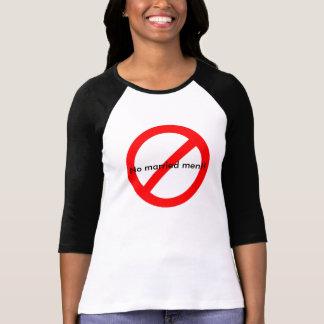 No Married Men!! Novelty Ladies Baseball Tee