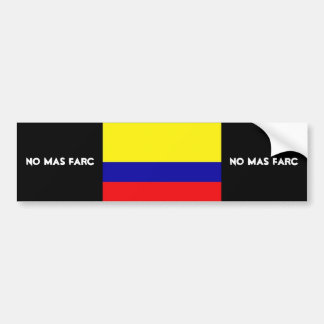 NO MAS FARC BUMPER STICKER