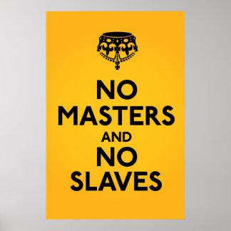 No Master No Slaves Poster