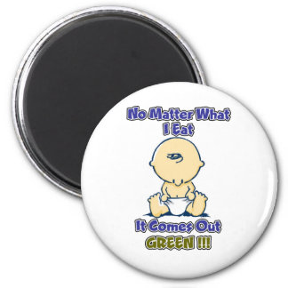 No Matter What I Eat It Comes Out Green 6 Cm Round Magnet