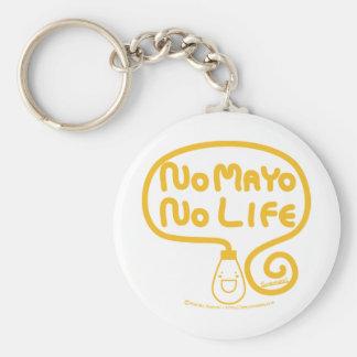 No Mayo No Life Basic Round Button Key Ring