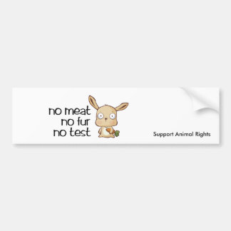 no meat no test marlo , Support Animal Rights Bumper Sticker