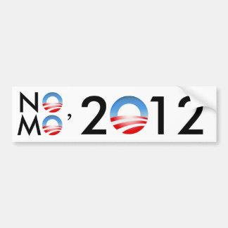 No Mo' Obama 2012 Car Bumper Sticker