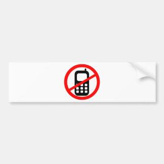 No Mobile Phones Symbol Bumper Sticker