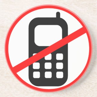 No Mobile Phones Symbol Coaster