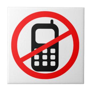 No Mobile Phones Symbol Tile