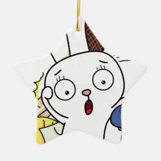 No money Bunny! Ceramic Star Decoration
