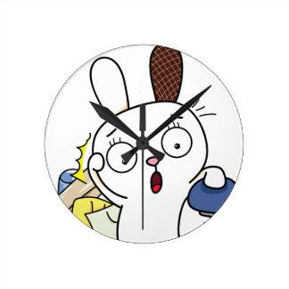 No money Bunny! Round Clock
