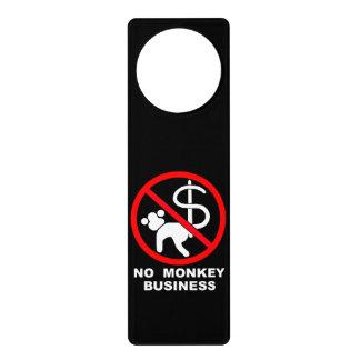 No monkey business door hanger