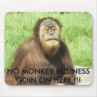 NO MONKEY BUSINESS GOIN ON HERE !!! MOUSE PAD