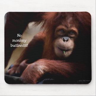 """No Monkey Business!"" Mouse Mat"