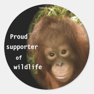 No Monkey Business Round Sticker