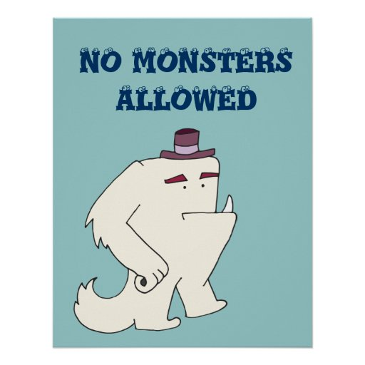 No Monsters Allowed Poster