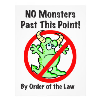 """No Monsters"" Flyer"