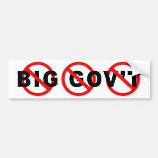 No More Big Government bumper stickers