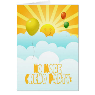 No More Chemo Balloons & Sunshine Invitation Greeting Card