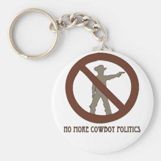 No more Cowboy Politics Basic Round Button Key Ring