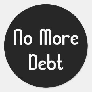 No More Debt Round Sticker