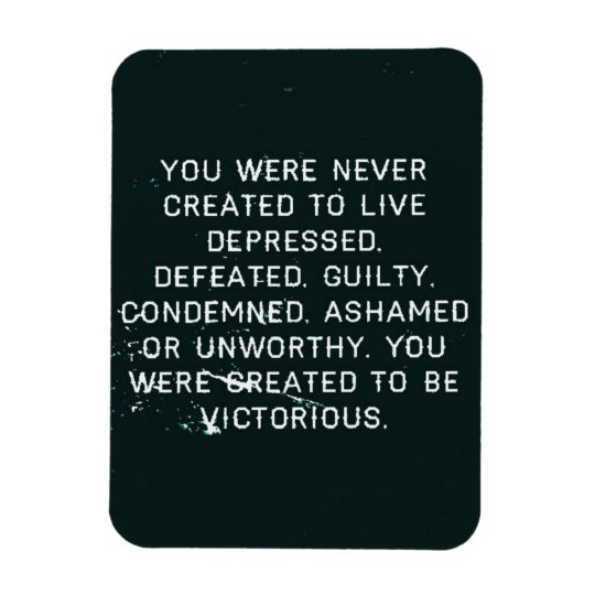 NO MORE DOMESTIC ABUSE YOU WERE CREATED TO BE VICT RECTANGULAR PHOTO MAGNET