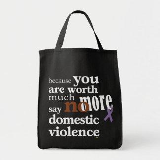 No More Domestic Violence Tote Bags