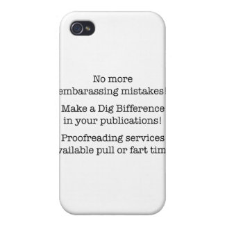 No more ebrasassing mistakes case for iPhone 4