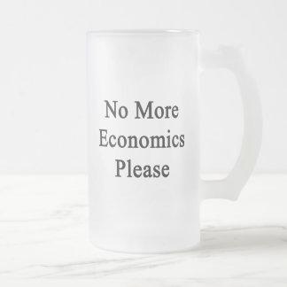 No More Economics Please Frosted Glass Mug