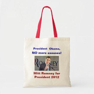 No More Excuses Romney Bag