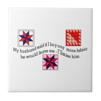 No More Fabric Small Square Tile