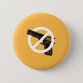 No More Guns (button - yellow) 6 Cm Round Badge