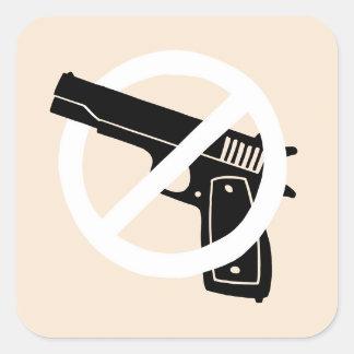 No More Guns (stickers) Square Sticker