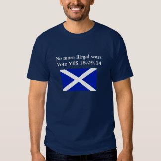 No More Illegal Wars Scottish Independence -Shirt Tee Shirts