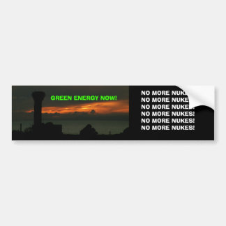 NO MORE NUKES! BUMPER STICKER