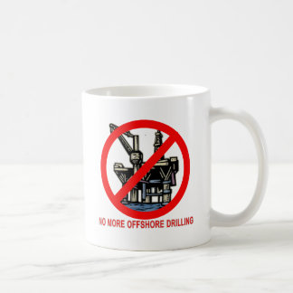 No More Offshore Drilling Tshirts and Buttons Classic White Coffee Mug
