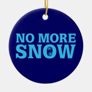 No More Snow Christmas Ornament