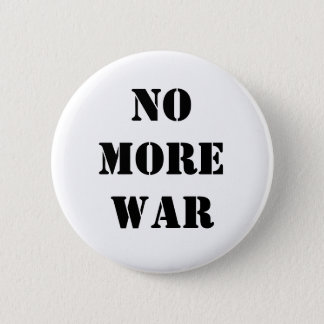 No more war 6 cm round badge