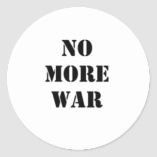 No More War Stencil Classic Round Sticker