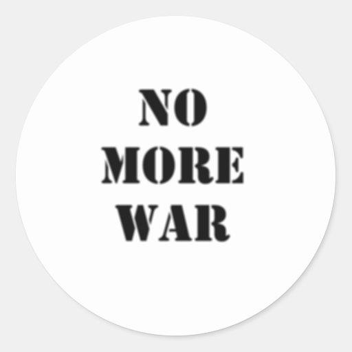 No More War Stencil Sticker