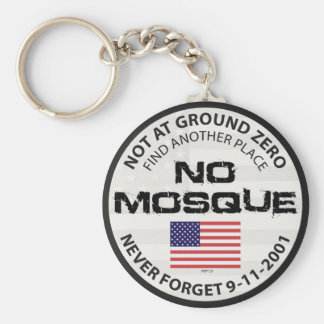 No Mosque At Ground Zero Basic Round Button Key Ring