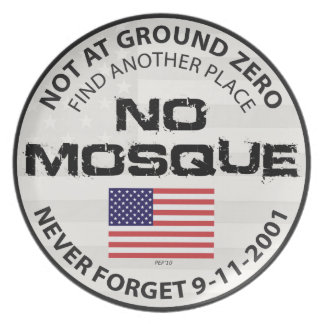 No Mosque At Ground Zero Plate