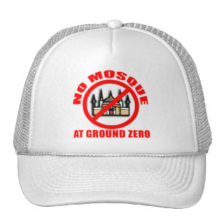 NO MOSQUE at Ground Zero Tshirts Buttons Mesh Hat