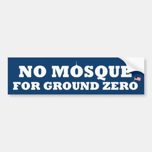 No mosque for ground zero car bumper sticker