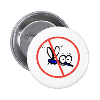 no mosquito funny cartoon design 6 cm round badge